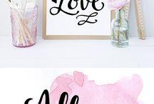 Hand Lettering och vattenfärg