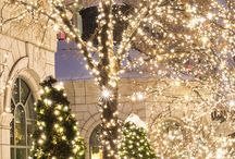 Christmas Lights Inspiration / Christmas... The most wonderful time of the year! Use some light to decorate your home...