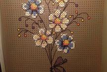 Pegboard cross stitch