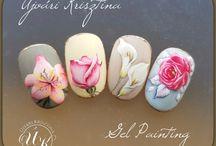 paznokcue kwiaty
