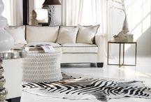 Alfombras Animal Print / Son cuero de vaca estampados, imitando el estampado de distintos animales, como cebra, tigre, leopardo, etc.