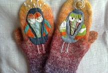 Вязание варежки носки