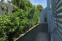 Outdoor shower - complete privacy / Outdoor hot and cold shower  ( holiday rental home 100 Hitchcock - Barwon Heads )