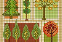 cross stitch autumn