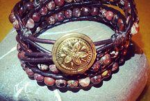 GEMSTONE & LEATHER Bracelets