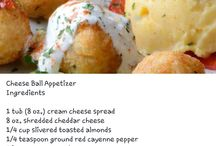 {Dips and cheese balls}