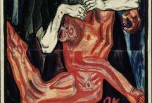 ekspresjonizm / malarstwo  pierwsze 30lecie XX w emocje, uczucia  zadanie malarza - wyrażenie odczuć przeżyć (a nie odtworzenie rzeczywistości )  Oskar Kokoszka  Vassily Kandinsky  Olga Poznańska
