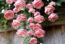 цветы из Фома и фетра