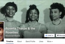 Sister Rosetta Tharpe / A Gospel singer born in the early 20th Century who 'crossed over' to the blues and became the 'Godmother of Rock 'n' Roll'.