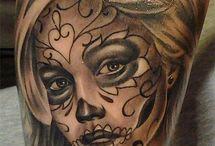 Sugar skull tatoeages