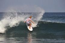 Surfing in Maldives / surfing around in Maldives.