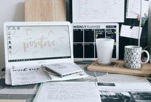 Inspiração mesa de estudos