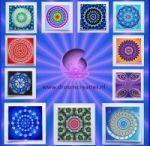 Meditation cards mandala & fractals & kaleidoscope
