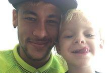 Neymar y Davi Lucca