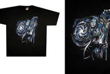 takeart.pl / #Hand painted t-shirt #jeansjacket #face/body painting.