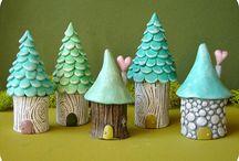 Minature houses, huts....