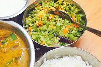 Carrot Beans Poriyal | South Indian Samayal Recipes