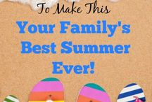 Summer Time and Outdoor Play / Summer Holidays Summer Fun Fourth of July Memorial Day Summer Vacation Summer Break