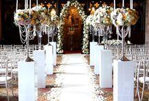 Vintage Castle Wedding / Peckforton castle wedding, floral arch, candelabras, flute vase arrangements, top table flowers.
