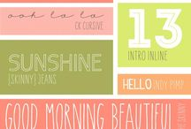 Printables & Fonts / Free pro tables and fonts.  / by Heather Stacy