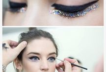 Christmas Make-up Inspiration / Christmas is the time for sparkles, strong colours and a bit of cheer. This board has all the nail and makeup looks to get you through the Christmas holidays.