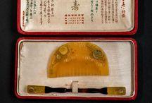 japan kanzashi, kushi comb and kogai