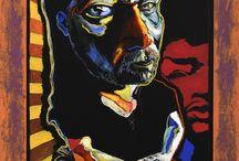 Boris Jirků / Boris Jirků, jeden z největších českých malířů současnosti u nás nejen vystavoval, ale i namaloval několik obrazů v rámci Sympozia