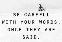 spoken words