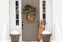 wreaths/door decorations / by Shannon Lewis