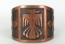 Copper / Vintage copper jewelry with a Native American theme