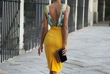 Tenu jupe jaune