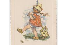 Marie Fischerová - Kvěchová: pohlednice