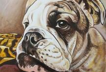 Bulldog Paintings by Dragoslav Milic / by Andrej Milic