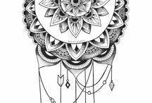Pagan Freehand Tattoo Doodle