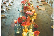 Long table centrepieces