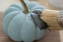 Cute clay pumpkin
