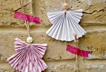 folded paper angels