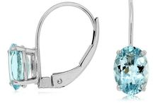 March Birthstone Jewelry / Those born in March are blessed with the serene, tranquil and majestic Aquamarine as their birth gemstone.