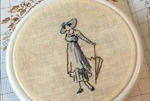 WOOMAN *CROSS STITCH-EMBROIDERY