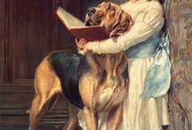 girl with a book painting / Женщины, читающие книгу