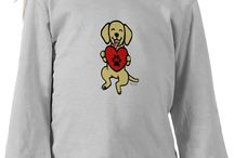 Yellow Labrador Shirts for Kids / Funny and cute Yellow Labrador Retriever Shirts for kids who love Labradors!  Labrador artwork by Naomi Ochiai