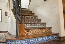 Çinili Şömineler-Yatak başları-Merdivenler