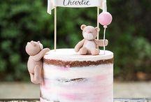Buttercream baby shower cakes