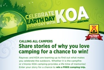 Earth Day with KOA / This Promotion has ended: Rayovac and KOA are teaming up to find out what makes your celebrate the outdoors. Enter for a chance to win a Free camping trip, 6 Person Tent and Rayovac goodies! https://www.facebook.com/Rayovac/app_112375492183316 / by Rayovac