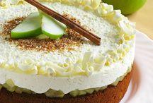 Медово-яблочный торт с муссом