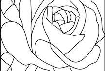 Disegni Mosaici Rose