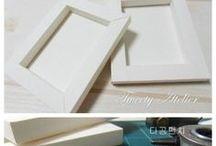 cadre en papier