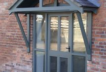 Door canopy and fences