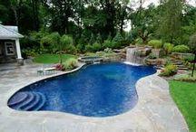 Paesaggistica della piscina