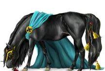 hester som er på nettstallen